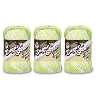 3 Skeins Lily Sugar'n Cream Stripes Yarn, Gauge 4 Medium Worsted
