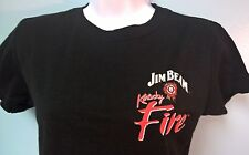 Jim Beam Kentucky Fire T Shirt Womens Large Black