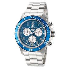 Glycine GL1004 Men's Combat Sub Quartz 42mm Chronograph Blue Dial Watch
