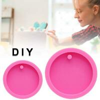 Round Keychain Mold for Resin Casting Epoxy Silicone Molds DIY Craft Pendant