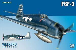 Eduard 1/72 Modèle Kit 7441 Grumman F6F-3 Hellcat Weekend Edition