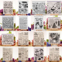 Klar Silikon Stempel Clear Stamps Scrapbooking DIY Basteln Briefmarken Fotoalbum