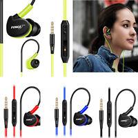 Waterproof Earphones In Ear Earbuds HIFI Sport Headphones Bass Headset + Mic  HS