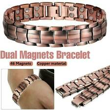 Mens Women Magnetic Therapy Bracelet Arthritis Pain Relief Pure Copper Bangle