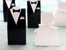 100x Bride Groom Wedding Favor Box
