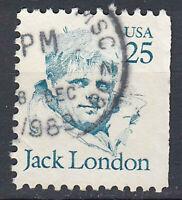 USA Briefmarke gestempelt 25c Jack London Rundstempel / 961