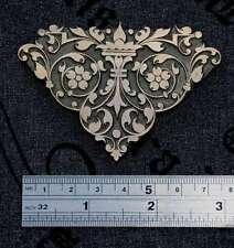 Laiton Ornement Reliure Art Nouveau fleuron Edge Fleur gaufrage relieur