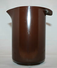 Vintage Rosti Denmark 1L  Melamine Brown Pitcher Vase Mid Century Danish Modern