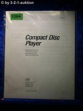 Sony Bedienungsanleitung CDP 411 / 511 /D7 CD Player  (#1364)