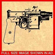 MAUSER C96 BROOMHANDLE  Pistol/Gun PATENT - 1908 #855