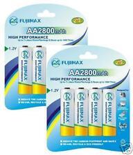 FUJIMAX*8 x 2800 MAH AA RECHARGEABLE BATTERIES-NI-MH