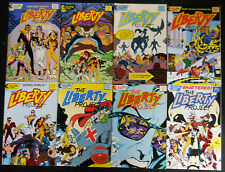 LIBERTY PROJECT ECLIPSE 1987 #1 TO #8 COMP. VF+ NEW SUPERTEAM,ALL FELONS!!