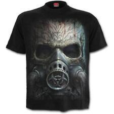Spiral - BIO SKULL - Men's Black Short Sleeve T-Shirt, Skull, Apocalypse.