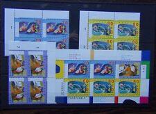 Netherlands 1996 Culture Health & Welfare Funds set x 4 plus Miniature Sheet MNH