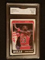 ** GEM MINT 10 ** 1988-1989 Fleer #17 Michael JORDAN RARE RARE!! PSA ??