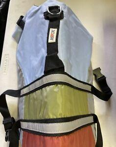 ASPCA Dog Life Jacket Swim Vest Sz Medium Safety Preserver Green, Gray NEW