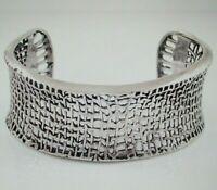 Silpada Sterling Silver Weave Cuff Bracelet B1625 Woven 925 Small Wide