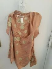 MARNI TOP ICONIC INTERESTING DESIGN IN SILK SZ 44/ 6-8
