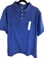 Goodfellow & Co Mens Polo Shirt Size 2XB 2XL Big Blue Cotton Short Sleeves NWT