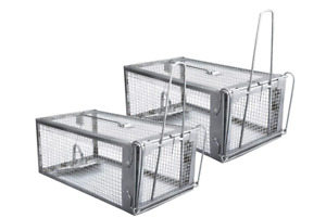 SMALL ANIMAL LIVE CAGE HUMANE TRAP Cat Groundhog Rabbit Rodent Squirrel Mice New