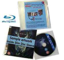 Slimdisc Bluray & Games Media Space Saving Cover Sleeve Storage System 100 Pack