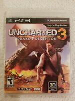 Uncharted 3 Drake's Deception Playstation 3 2011 PS3 COMPLETE CLEAN FREE S/H