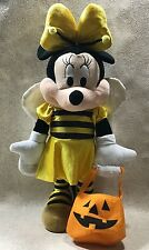 """Disney Halloween Minnie Mouse Weighted Plush Figure 22"""" Bumble Bee Decoration"""