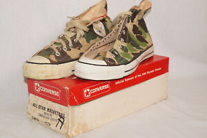 Converse all Star Basketball Camouflage vintage 1980's US 13 EU 47  1-9150