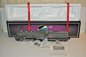 MTH TINPLATE TRADITIONS 10-1063-0 #263E STEAM LOCOMOTIVE GRAY O GAUGE OB