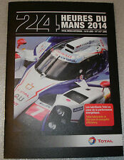 Le Mans 2014 FIA WEC Total In Partnership Toyota Racing TS040 Press Media Guide