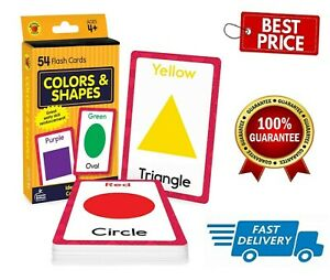 Baby Book Colors Shapes Picture Flash Cards Kids Educational Pre School Learning