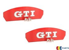 NEW GENUINE VW GOLF GTI 2013-2016 BRAKE CALIPER PLATE RED GTI COVER 2PCS SET