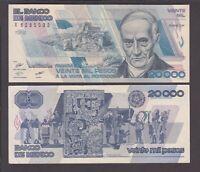 Mexico banknote P. 92b  20,000 Pesos 1.2.1988, VF  We Combine