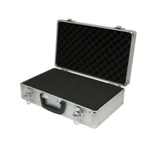 Aluminium Flight Case Microphone Camera Silver 400x240x125mm Foam Insert
