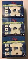 Lot Of 3: Avenger JSC-MB4-2 KU Universal Mono-block LNBs, 0.2db, HDTV Ready