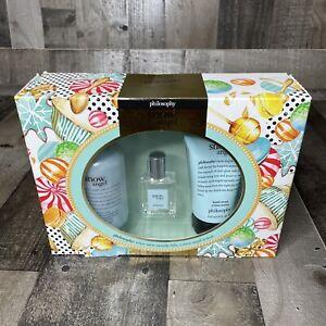 Philosophy Snow Angel 3Pc Gift Set Sealed - EDT Spray - Shower Gel - Hand Cream