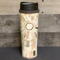 Starbucks 16 oz. 2012 Brown Abstract Starburst Sun W/ gold Tall Travel Tumbler