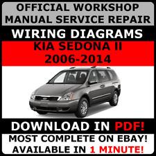 OFFICIAL WORKSHOP Repair MANUAL for KIA SEDONA II 2006-2014 WIRING#