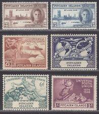 Pitcairn Islands 1946-49 KGVI Victory / 75th Anniv of UPU Set Mint cat £16 toned