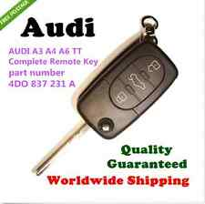 AUDI A3 A4 A6 TT 3 BUTTON FLIP REMOTE COMPLETE KEY part number  4DO 837 231 N/A