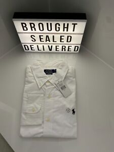 Ralph Lauren men's slim fit white shirt new and tagged size xl