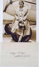 Ruth Rowland Nichols Aviation Pioneer Record Holder Signed Autograph ''Rare''