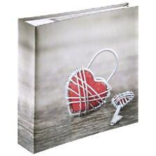 Album Fotografico Cuore Rosso con Tasche 200 Foto 10x15 e Spazio Scrittura Note