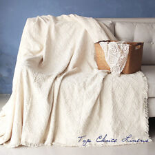 New Home Decor White Thick Cotton Throw Blanket Bed Cover Picnic Rug W130*L170