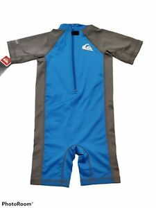 Toddler QuickSilver Surf Wetsuit UPF 50 Blue Gray Size 6T UV Tech NWT