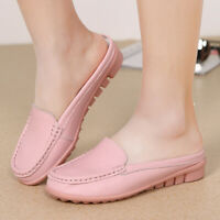 Women's Sneakers Leather Loafers Casual Round Moccasins Wild Driving Flats Shoes