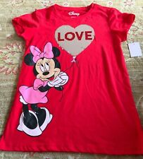 YOUTH GIRL'S DISNEY MINNIE MOUSE LOVE REVERSIBLE SEQUINS TOP-LARGE (10-12)-NWT!