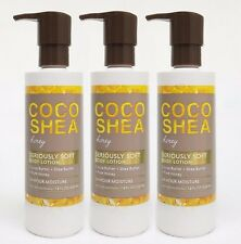 3 Bath & Body Works COCO SHEA HONEY Seriously Soft Body Hand Lotion 24HR Moist