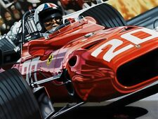 Chris Amon  90x70 cms limited edition F1 art print by Colin Carter