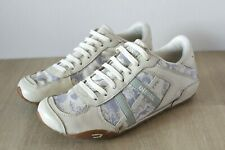 Womens Vintage Diesel Cream Leather & Floral Canvas Trainers Shoes | Size 5